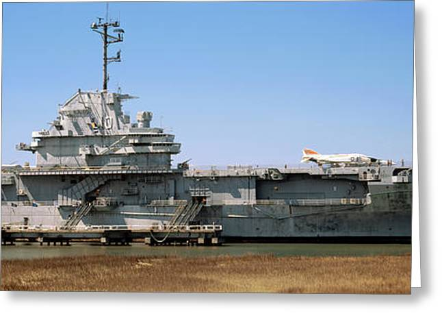Battleship At A Museum, Patriots Point Greeting Card