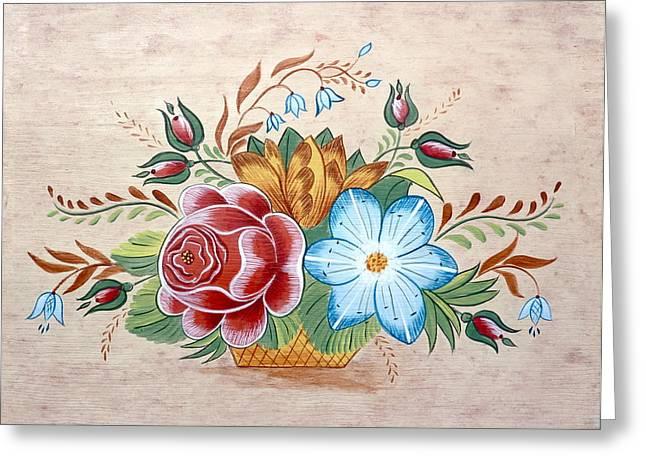Bavarian Floral  Greeting Card by Brenda Ruark