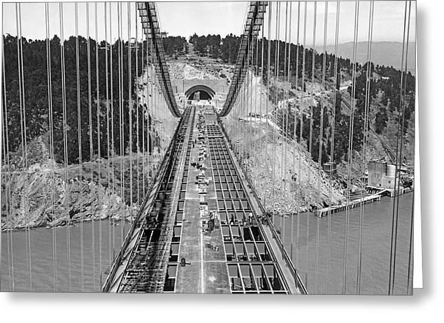 Bay Bridge Under Construction Greeting Card