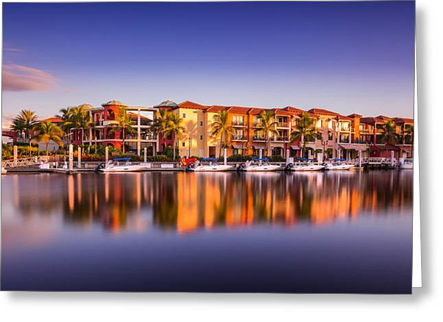 Bay Resort Naples Florida Greeting Card
