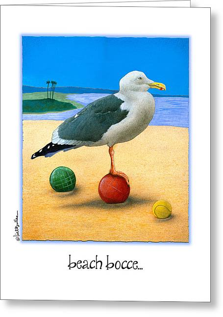 Beach Bocce... Greeting Card