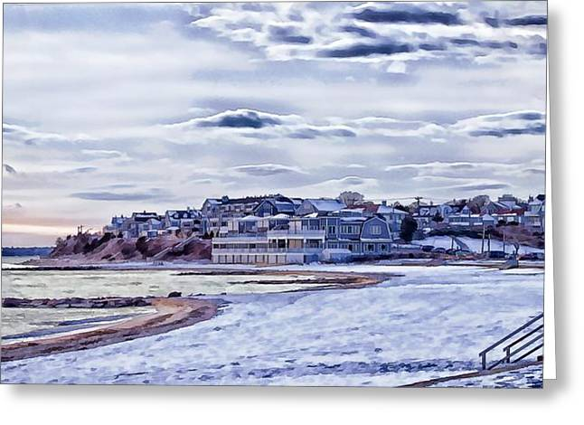 Greeting Card featuring the photograph Beach In Winter Photo Art by Constantine Gregory