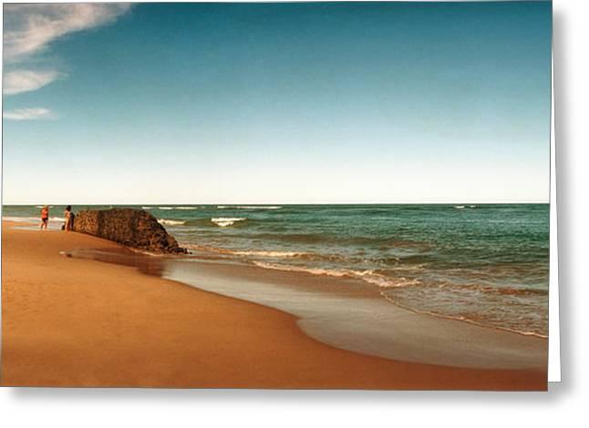 Beach, Morro De Sao Paulo, Tinhare Greeting Card