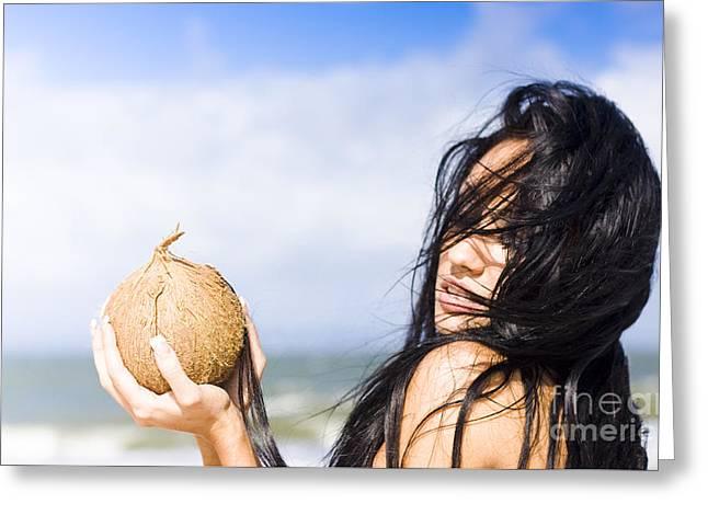 Beach Oasis Greeting Card