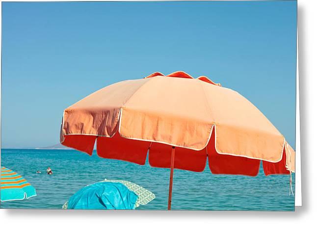 Beach Parasol Greeting Card