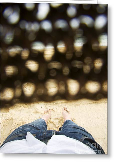 Beach Sleeper Greeting Card