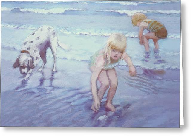 Beach Threesome Greeting Card by J Reifsnyder
