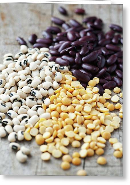 Beans And Lentils Greeting Card by Gustoimages