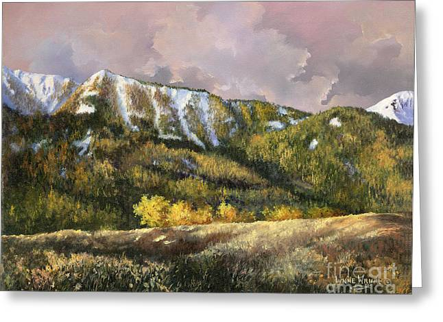 Greeting Card featuring the painting Bear Claw by Lynne Wright