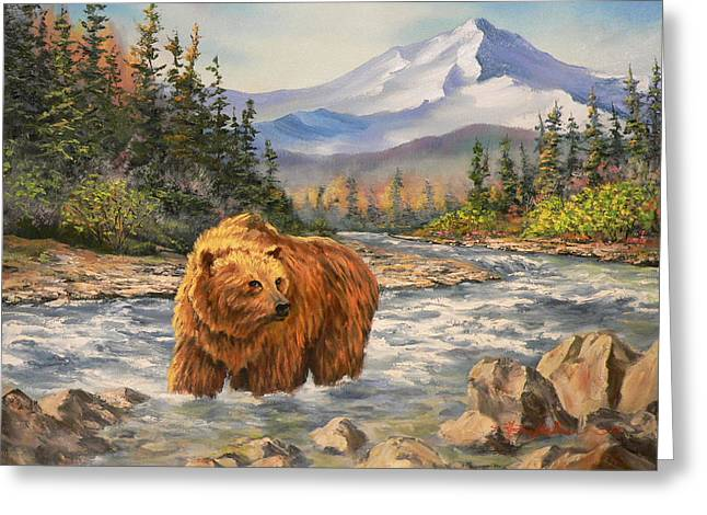 Bear Country Greeting Card by Gracia  Molloy