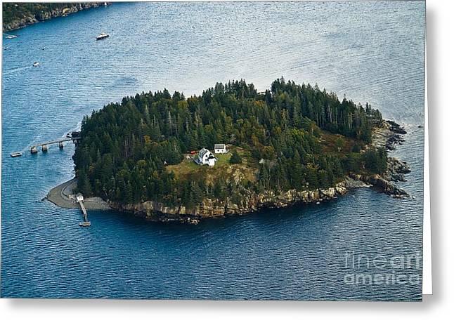 Bear Island Light.  Greeting Card