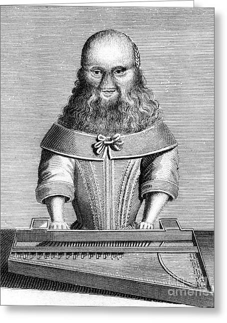 Bearded Lady Greeting Card by Chris Hellier