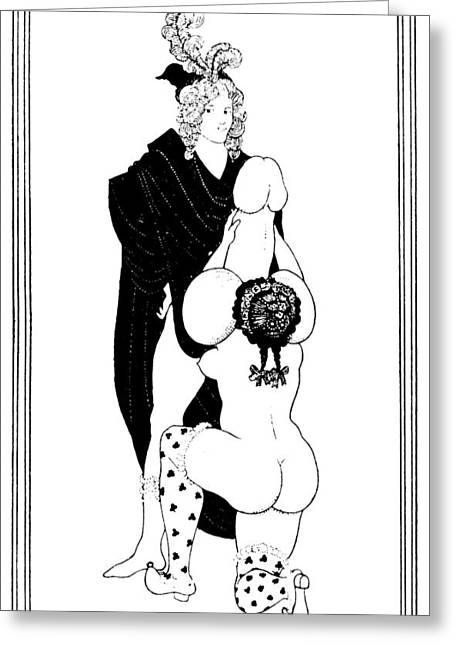 Beardsley Lysistrata Greeting Card