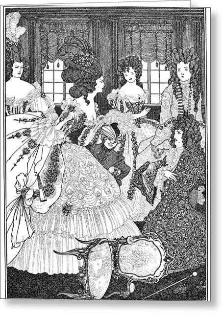 Beardsley: Rape Of Lock Greeting Card by Granger