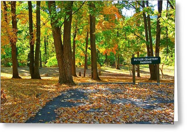 Beautiful Autumn Season Greeting Card by Skyler Tipton