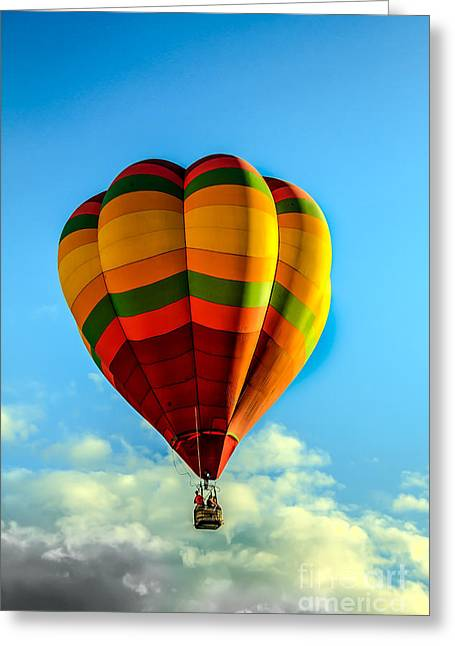 Beautiful Balloon Greeting Card by Robert Bales