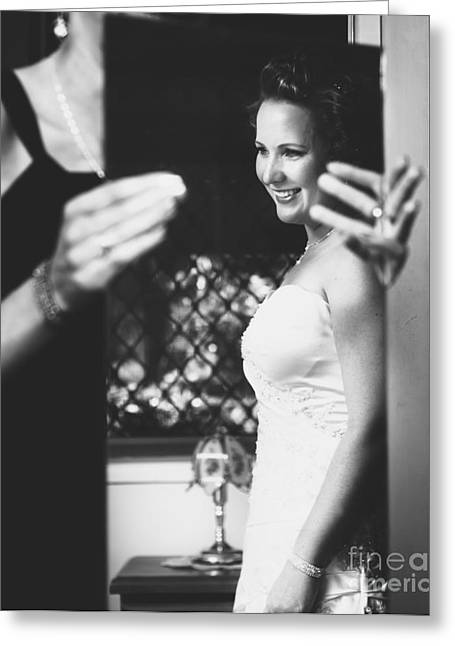 Beautiful Bride Getting Ready In Wedding Dress Greeting Card by Jorgo Photography - Wall Art Gallery