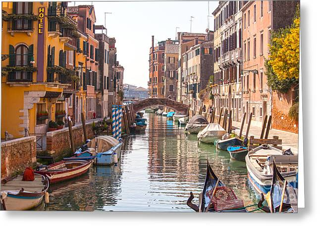 Beautiful Canal In Venice Greeting Card
