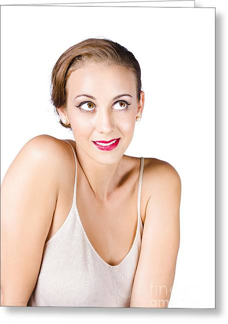 Beautiful Young Woman Greeting Card by Jorgo Photography - Wall Art Gallery