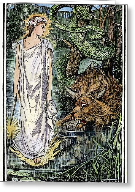 Beauty & The Beast, 1891 Greeting Card by Granger