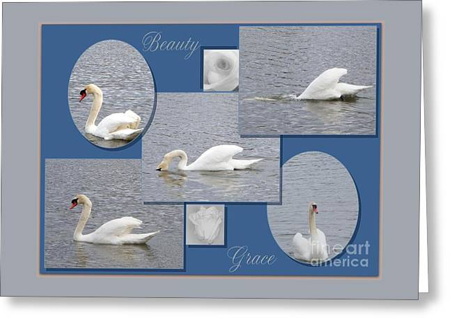 Beauty And Grace Greeting Card by Bobbee Rickard