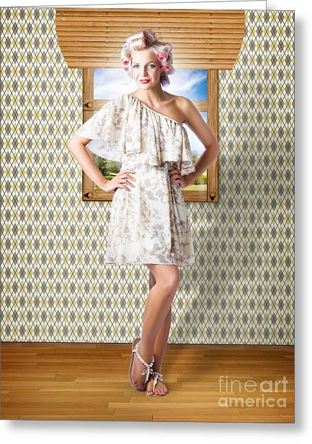 Beauty Photo Of Hair Makeup And Fashion Model Greeting Card by Jorgo Photography - Wall Art Gallery