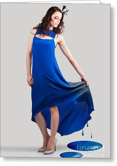 Beauty Portrait Depicting The Color Of Fashion Greeting Card by Jorgo Photography - Wall Art Gallery