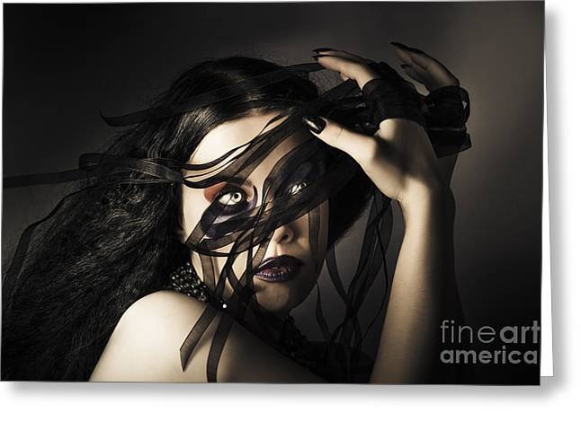 Beauty Queen Clothing Designer. Fine Art Fashion Greeting Card