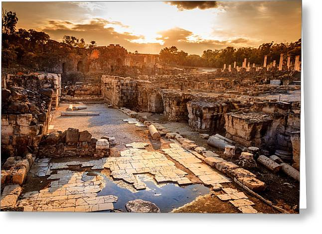 Beit She'an Greeting Card by Alexey Stiop