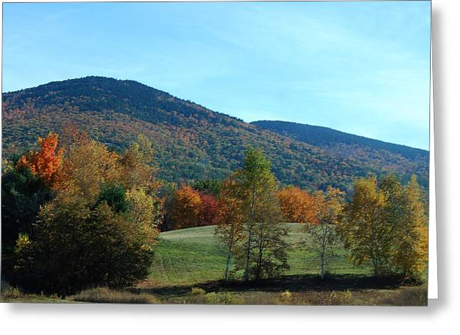 Greeting Card featuring the photograph Belknap Mountain by Mim White