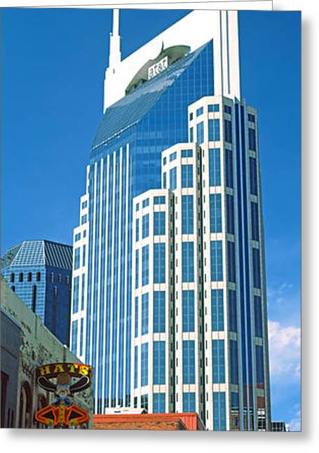 Bellsouth Building In Nashville Greeting Card by Panoramic Images