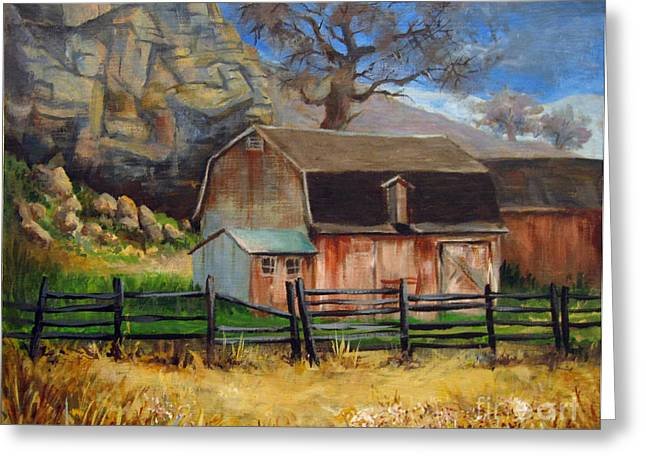 Bellvue Barn Greeting Card by Carol Hart