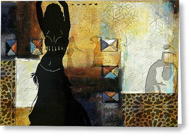 Abstract Belly Dancer 8 Greeting Card by Corporate Art Task Force