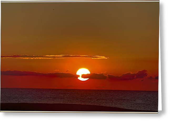 belmar sunrise New Jersey 2 Greeting Card by Geraldine Scull