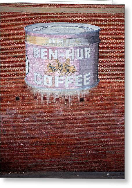 Ben Hur Coffee Greeting Card by Peter Tellone