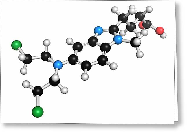 Bendamustine Chemotherapy Drug Molecule Greeting Card
