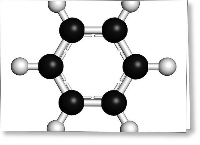 Benzene Aromatic Hydrocarbon Molecule Greeting Card