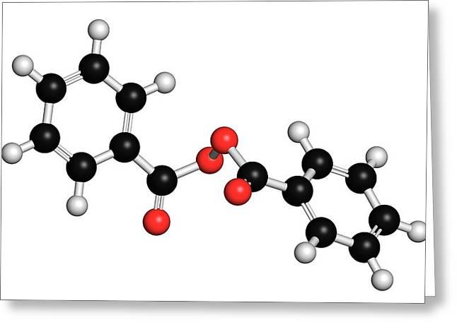 Benzoyl Peroxide Acne Drug Molecule Greeting Card