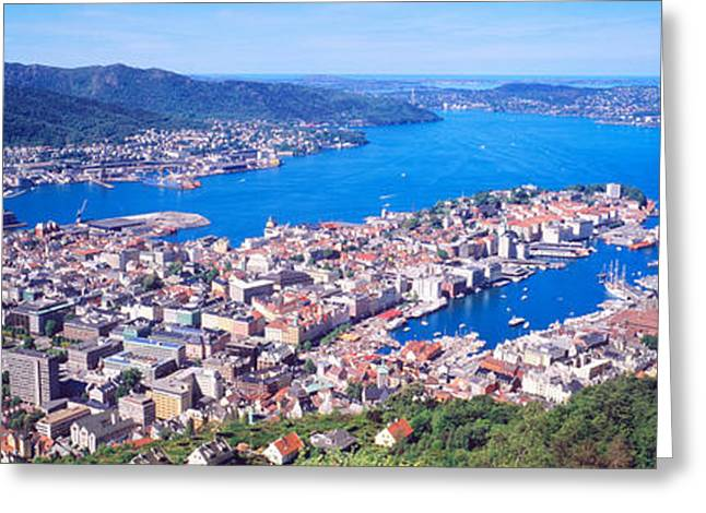 Bergen Norway Greeting Card by Panoramic Images