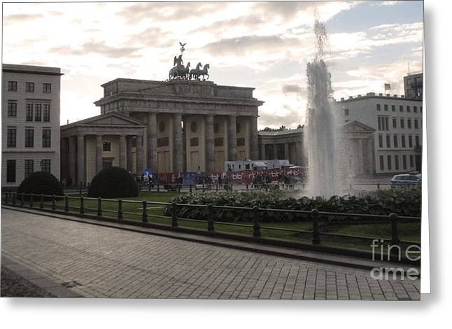 Berlin - Brandenburg Gate Greeting Card by Gregory Dyer