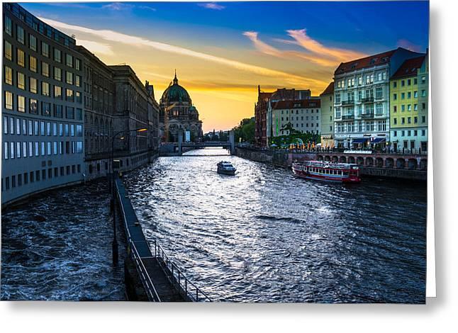 Berlin Greeting Card by Stavros Argyropoulos