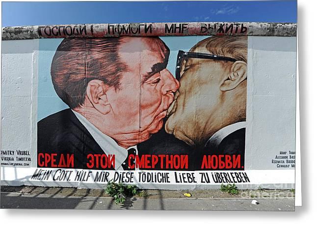 Berlin Wall Art Greeting Card by Ingo Schulz