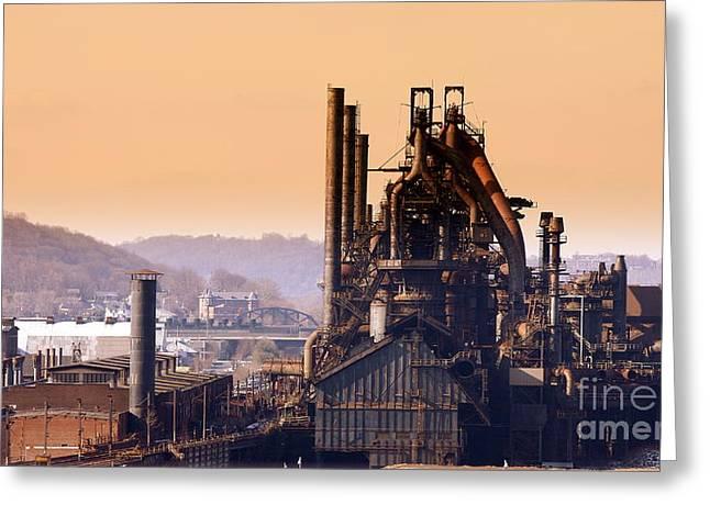 Bethlehem Steel Greeting Card by Marcia Lee Jones