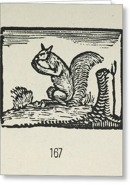 Bewick's Woodcuts Greeting Card by British Library