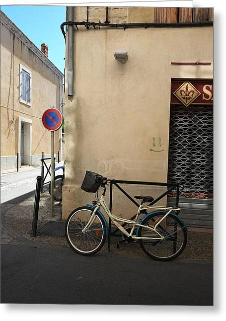 Bicycle Aigues Mortes France Greeting Card