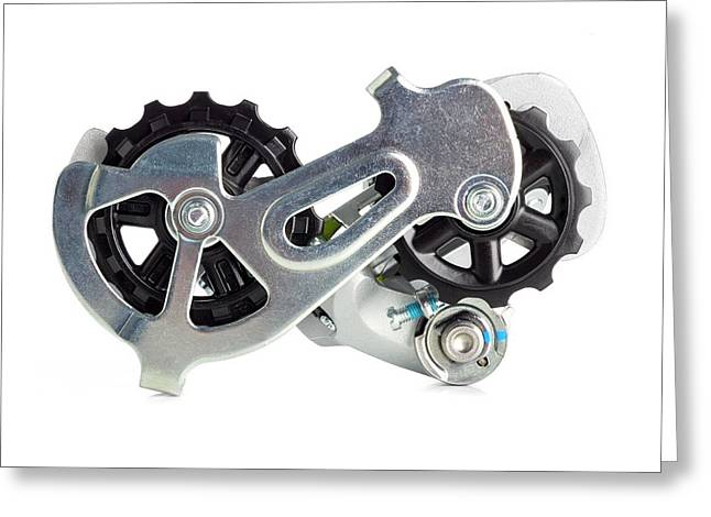 Bicycle Derailleur Greeting Card by Science Photo Library