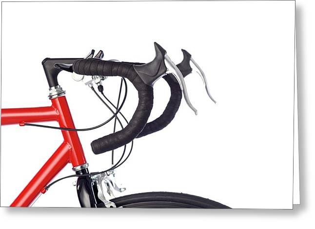 Bicycle Handlebars Greeting Card