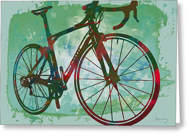 Bicycle Pop Stylized Art Poster Greeting Card