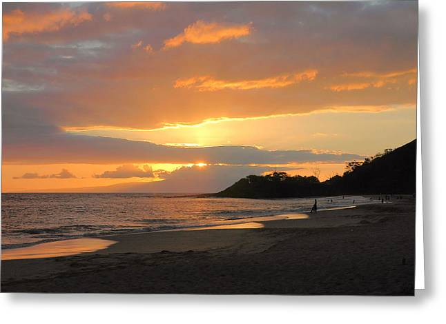 Big Beach At Sunset Greeting Card by Stephen  Vecchiotti