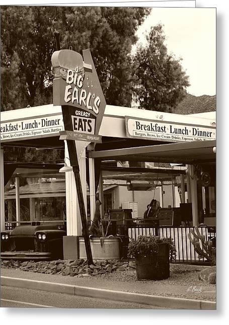 Big Earl's Greasy Eats Greeting Card by Gordon Beck
